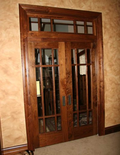 French-Pocket-Doors-in-Walnut