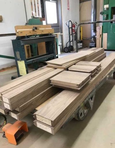 Rustic-Walnut-rails-and-stiles-ready-for-assembly